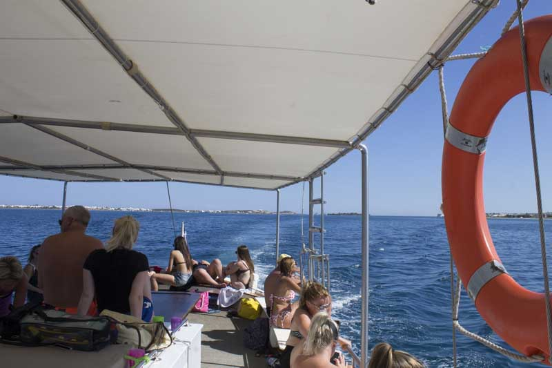 sparos daily cruises private cruises boat day trip paros island gallery 8