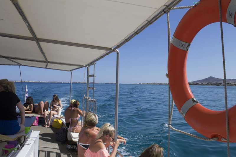 sparos daily cruises private cruises boat day trip paros island gallery 9